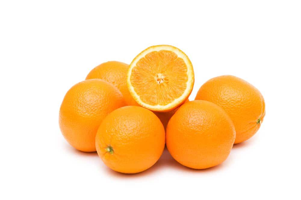Mehrere Orangen in Nahaufnahme