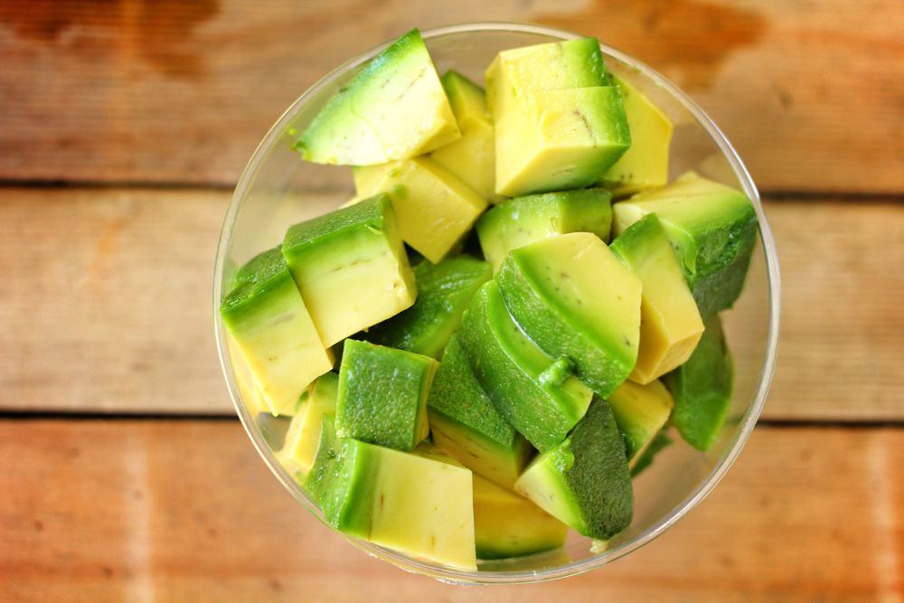 Avocado Kleingeschnitten